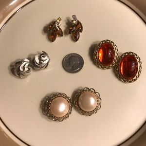 (4) pairs of Clip-on Earrings